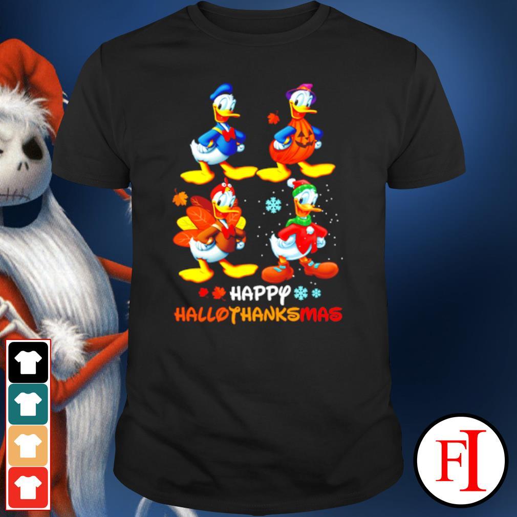 Halloween and Christmas Donald duck happy Hallothanksmas shirt