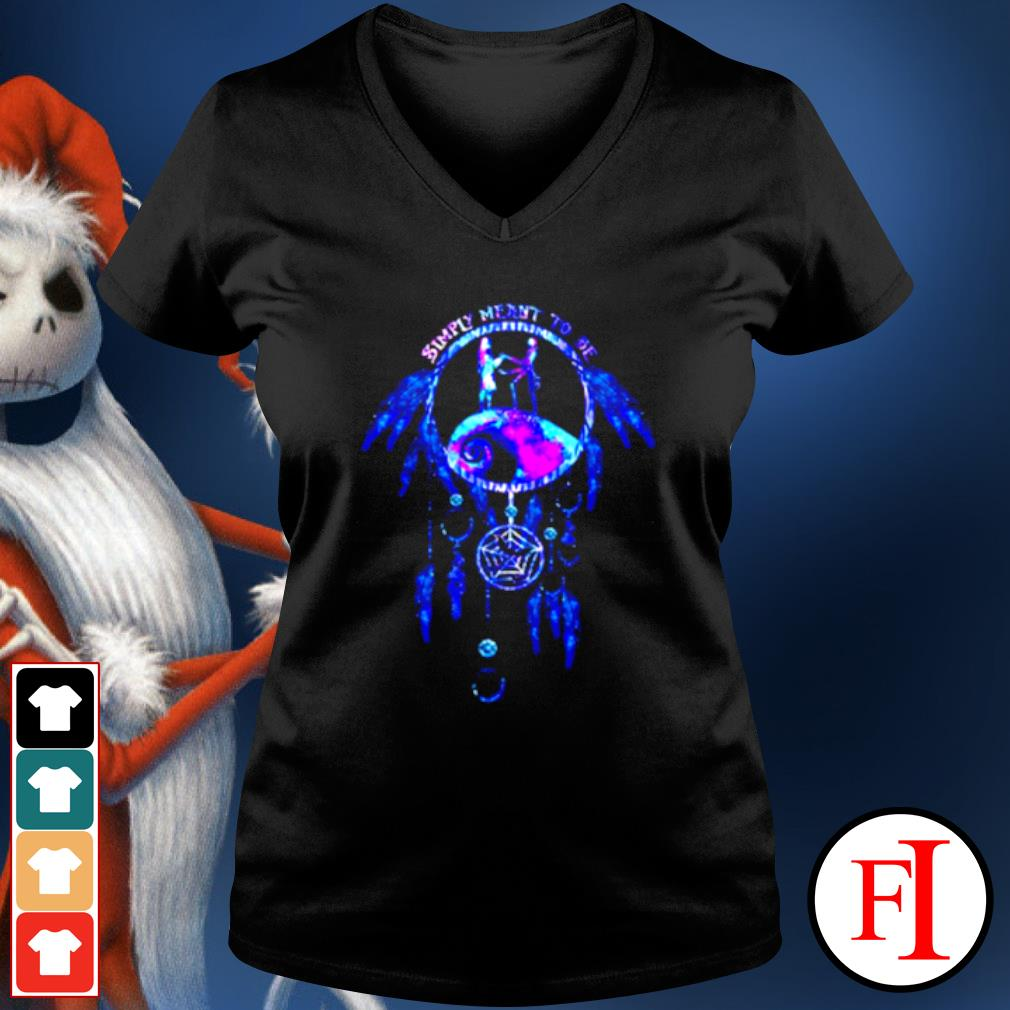 Jack Skeleton and Sally simply meant to be dream catcher s v-neck-t-shirt