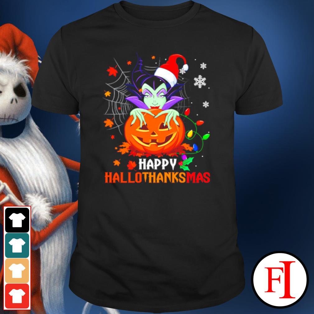 Maleficent pumpkin happy hallothanksmas shirt