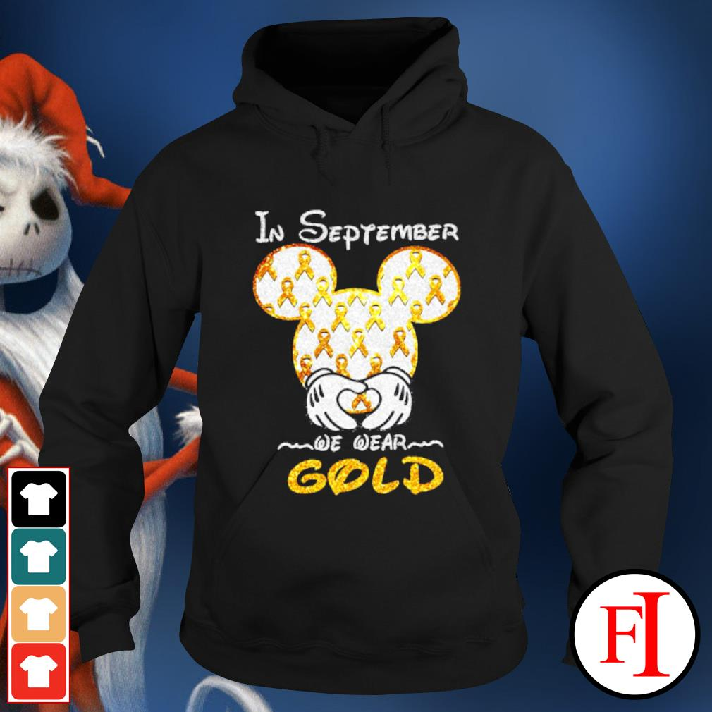 Mickey mouse Childhood Cancer in September we wear gold s hoodie