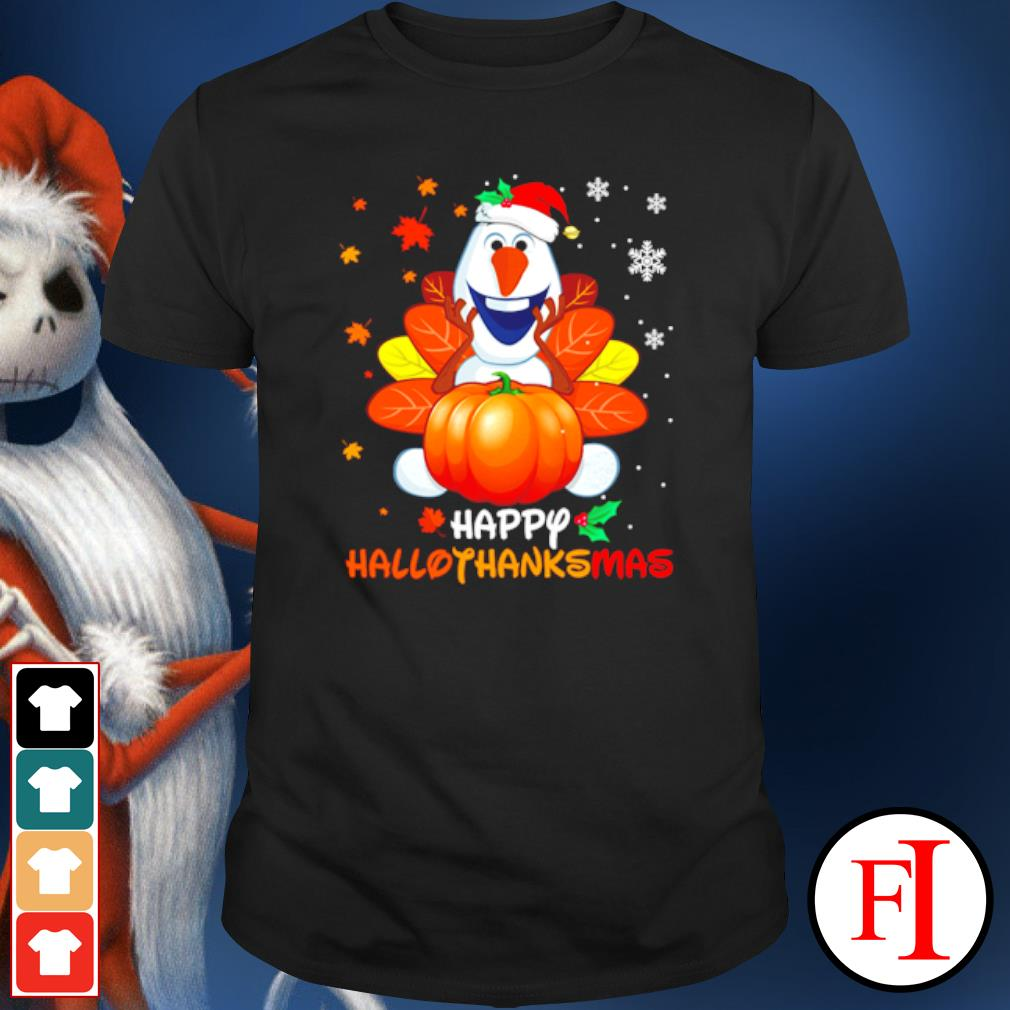 Olaf Disney pumpkin happy hallothanksmas shirt