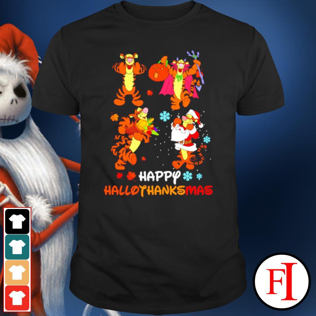 Premium Disney Tigger Happy Hallothanksmas shirt