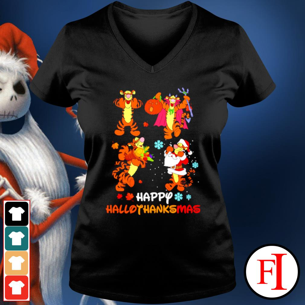 Premium Disney Tigger Happy Hallothanksmas s v-neck-t-shirt