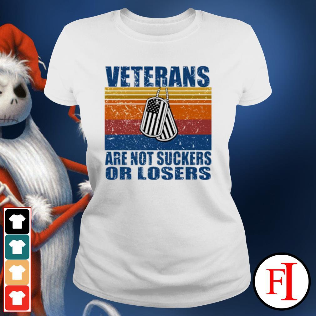 Veterans are not suckers or losers vintage s ladies-tee
