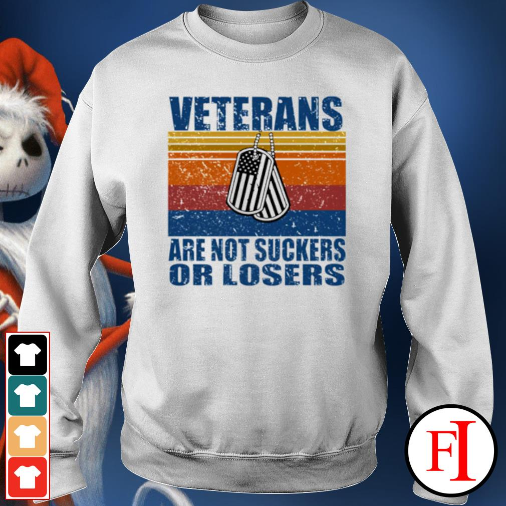Veterans are not suckers or losers vintage s sweater