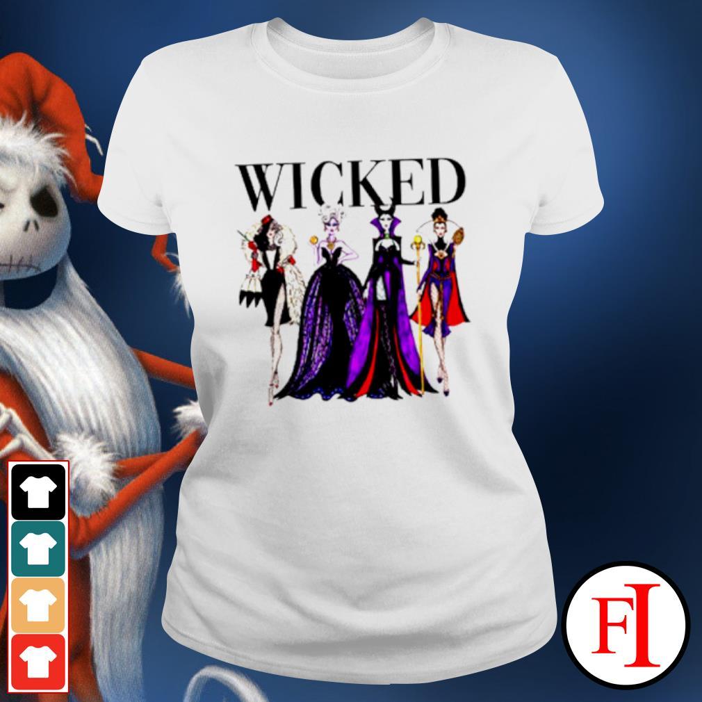 Wicked Disney Maleficent Evil Queen Ursula Cruella de Vil s ladies-tee
