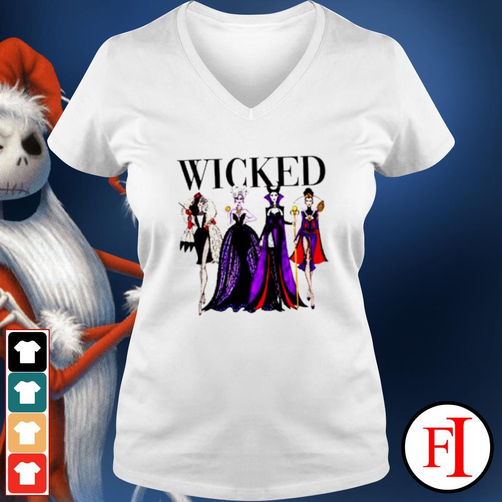 Wicked Disney Maleficent Evil Queen Ursula Cruella de Vil s v-neck-t-shirt