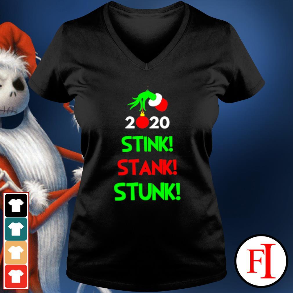 Grinch 2020 Stink Stank Stunk Christmas Tee Shirt