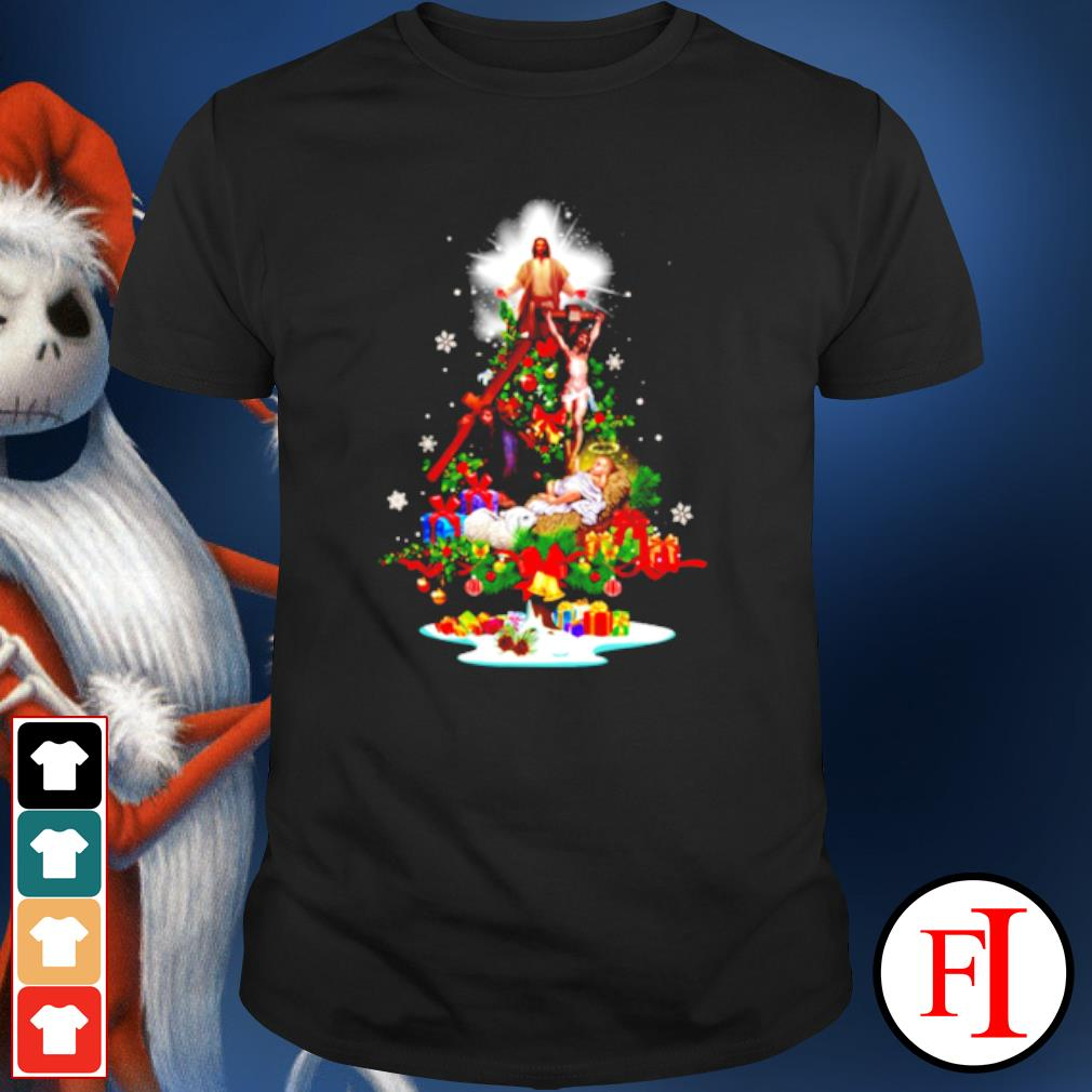 Jesus Christmas tree shirt