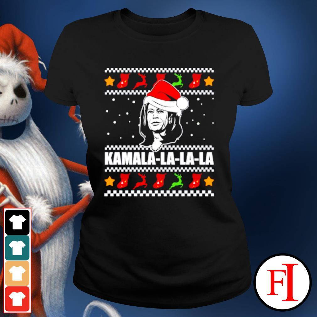 Kamala Harris la la la Christmas ugly s ladies-tee