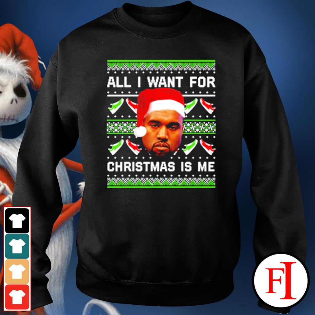Kanye West all I want for Christmas is me ugly christmas s sweater