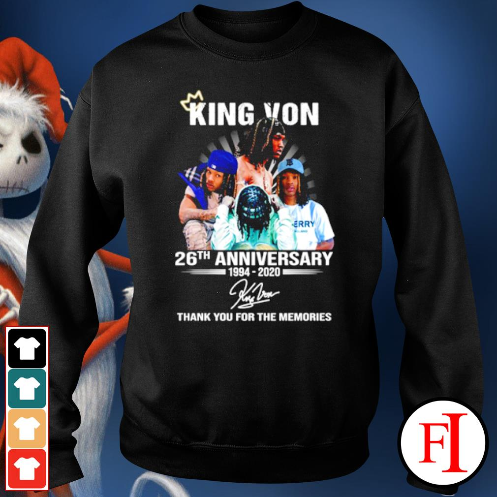 King Von 26th anniversary 1994 2020 thank you for the memories s sweater