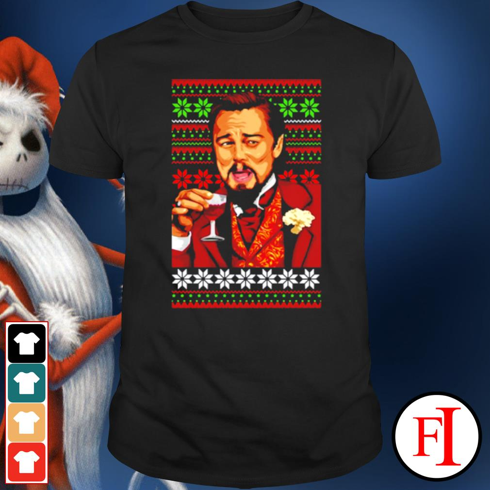 Leonardo Dicaprio laughing Christmas ugly shirt