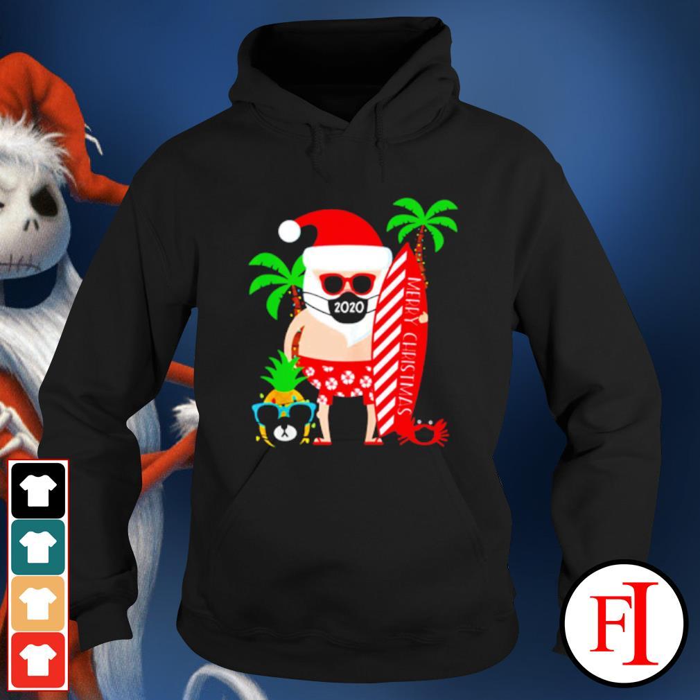 Merry Christmas Santa surfing wear mask s hoodie