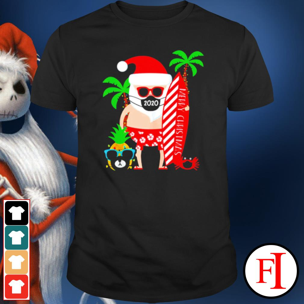 Merry Christmas Santa surfing wear mask shirt