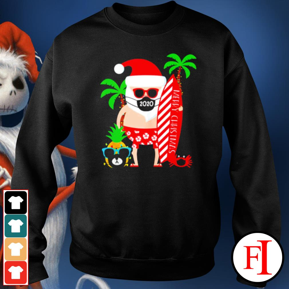 Merry Christmas Santa surfing wear mask s sweater