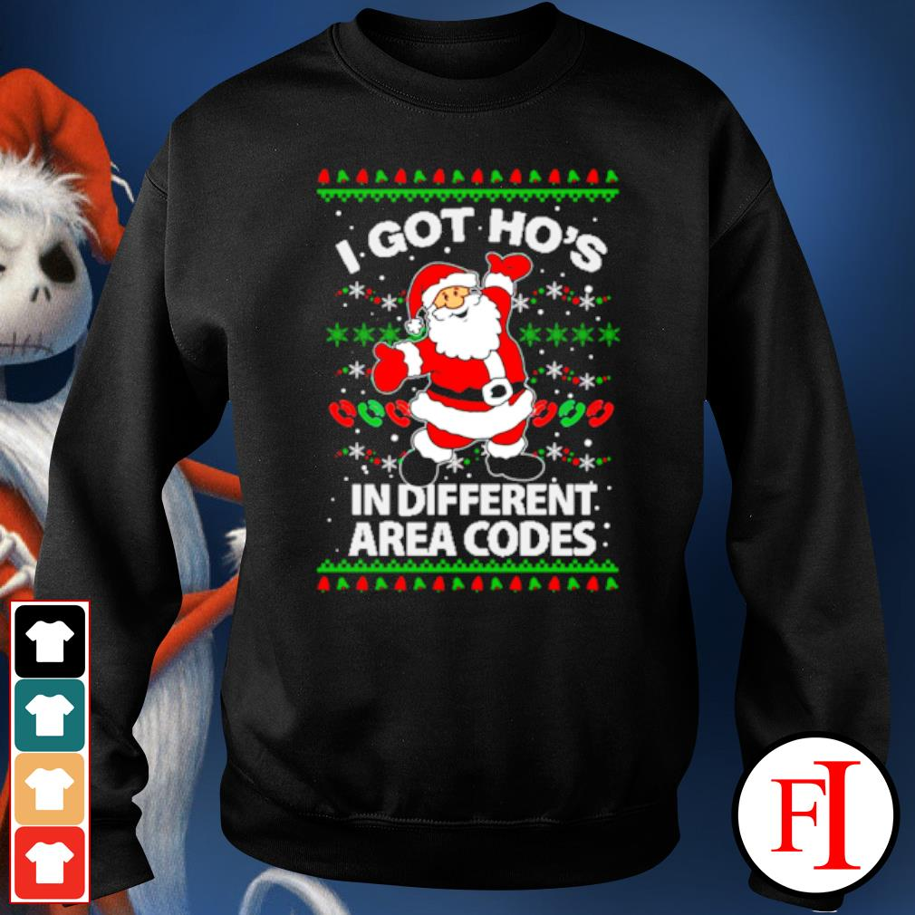 Santa I got ho's in different area Christmas ugly s sweater