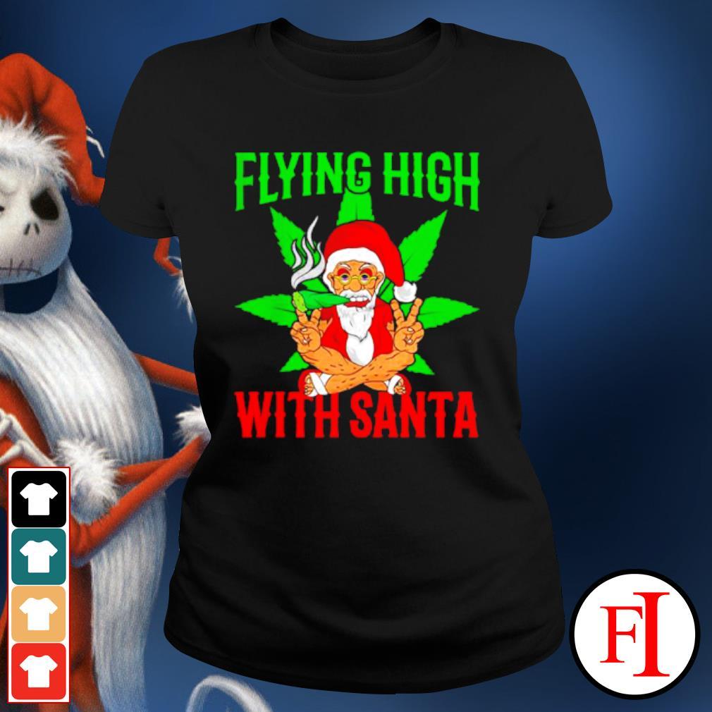 Santa Marijuana Christmas design s ladies-tee