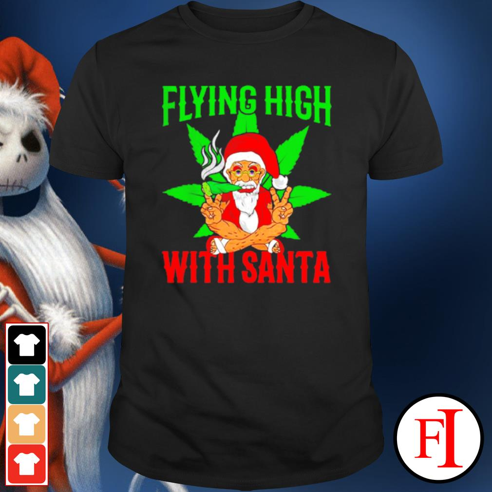 Santa Marijuana Christmas design shirt