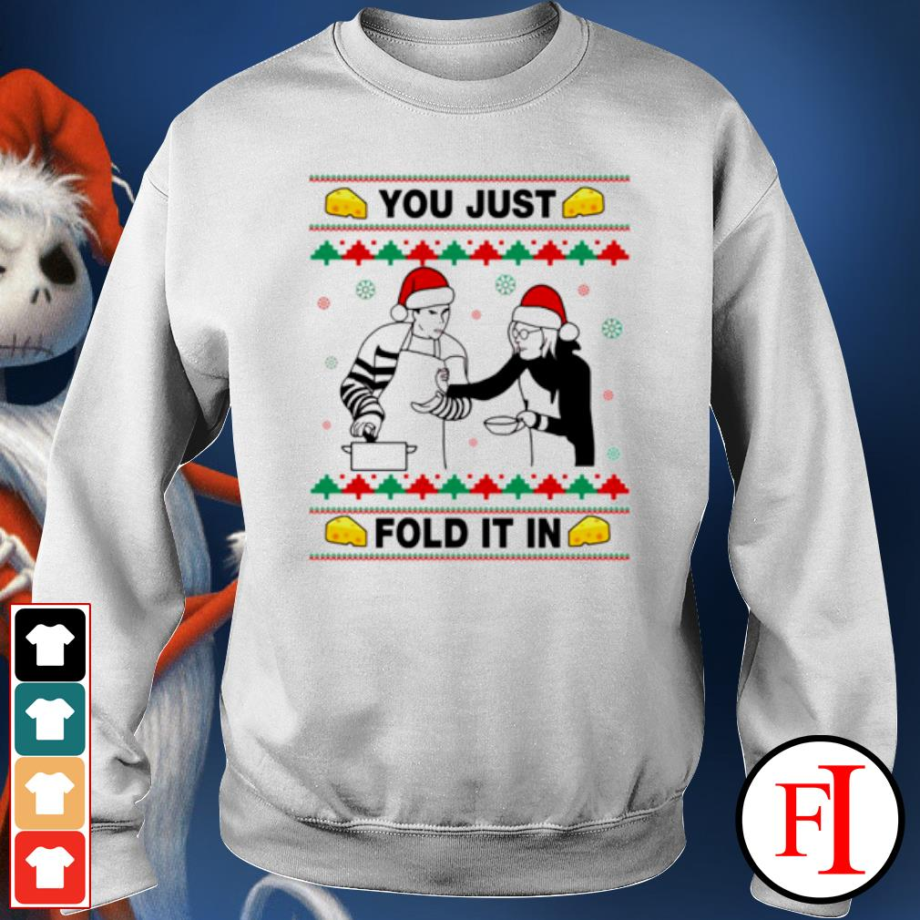 Schitt's creek you just fold it in Christmas ugly s sweater
