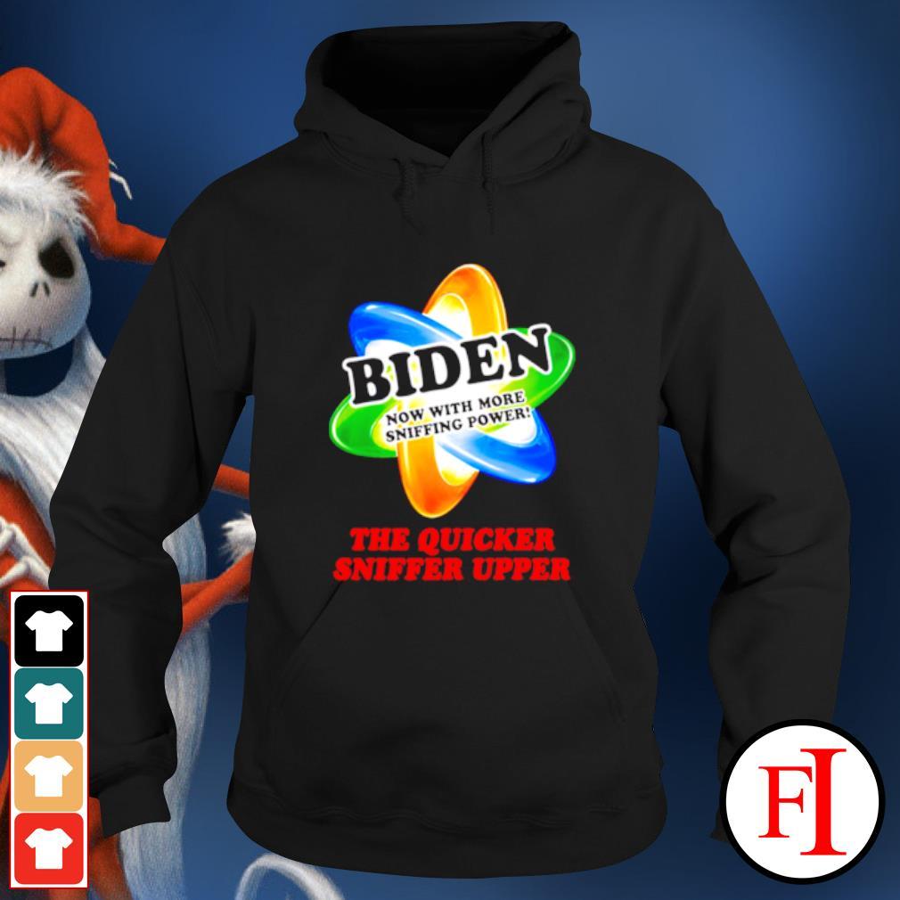 The quicker sniffer upper Joe Biden sniffing Trump is my president s hoodie