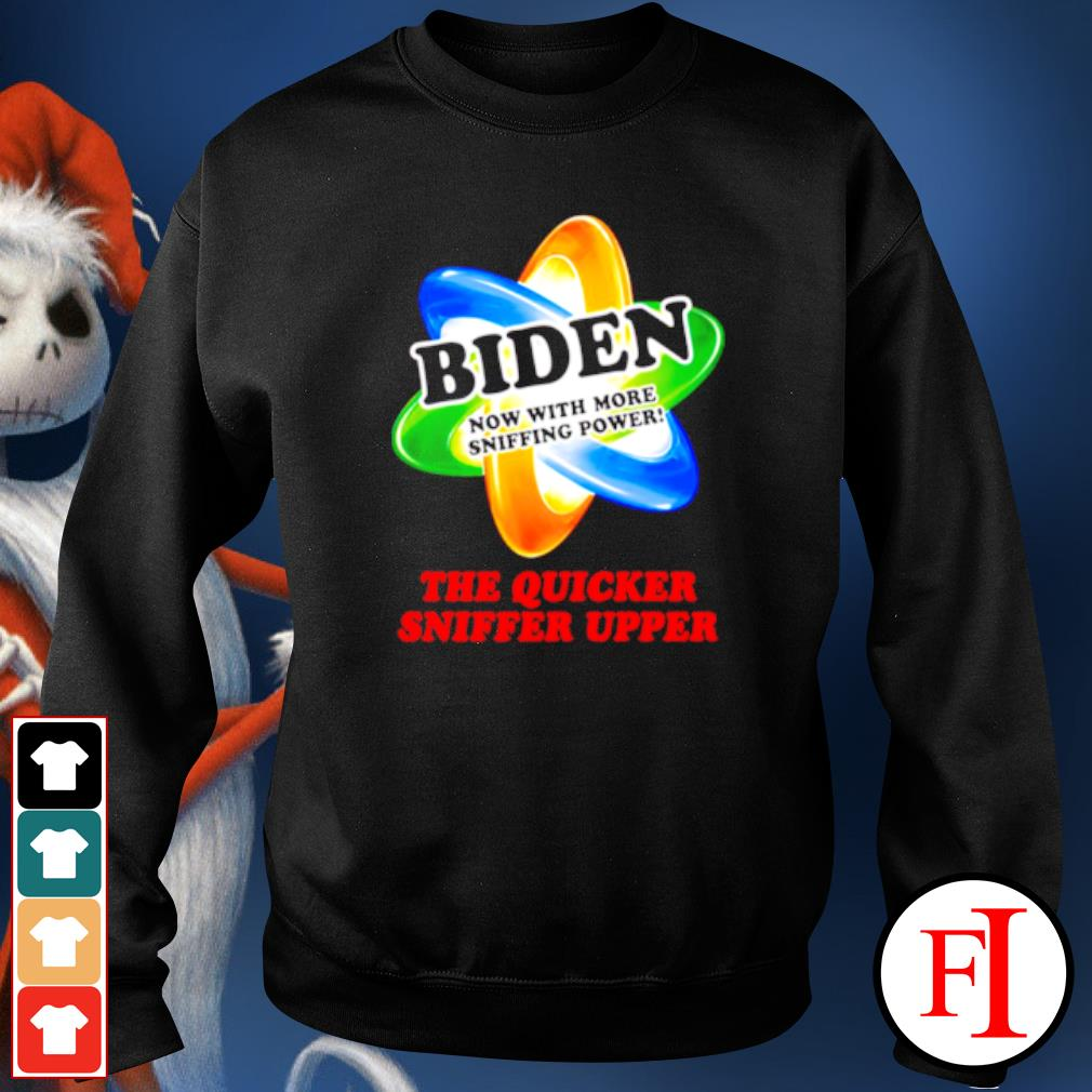 The quicker sniffer upper Joe Biden sniffing Trump is my president s sweater