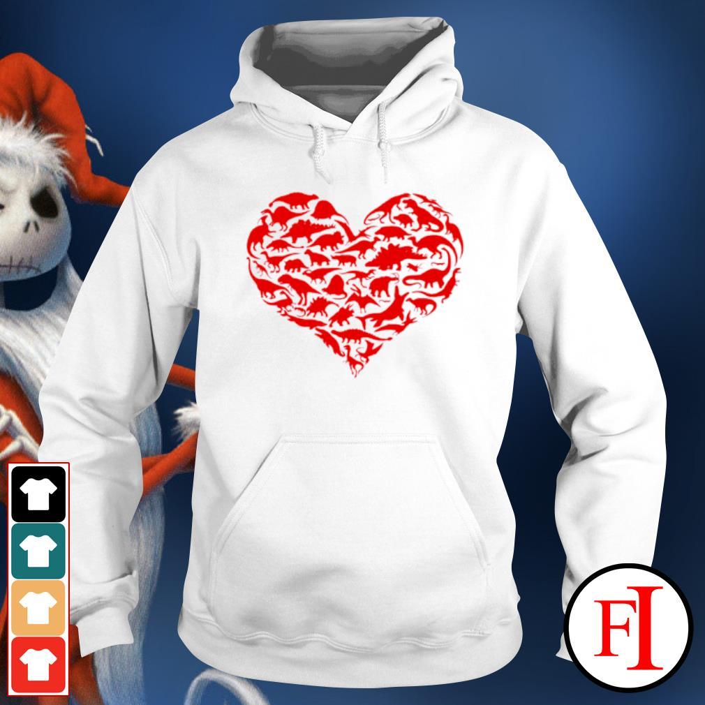 Dinosaur Heart Kids Dino Valentines Day s hoodie